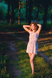 Menina na floresta Imagens de Stock Royalty Free