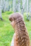 Menina na floresta Imagem de Stock