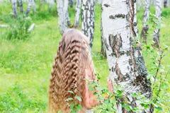 Menina na floresta Imagens de Stock