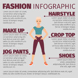 Menina na forma do terno dos esportes infographic Imagens de Stock Royalty Free