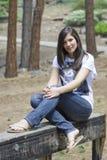 Menina na fuga em Tahoe Fotos de Stock