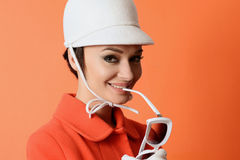 Menina na imagem clássica de 60s Fotografia de Stock