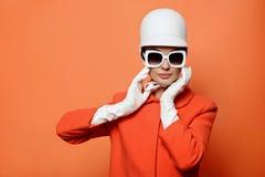 Menina na imagem clássica de 60s Foto de Stock