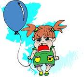 A menina na indignação ilustração do vetor