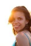 Menina na luz do sol Fotos de Stock