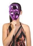 Menina na máscara imagem de stock royalty free