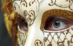 Menina na máscara Fotografia de Stock