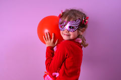 Menina na máscara Foto de Stock Royalty Free