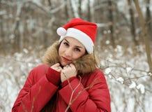 A menina na madeira Fotografia de Stock Royalty Free