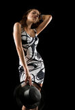 Menina na moda Fotografia de Stock Royalty Free