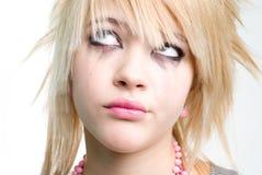 Menina na moda adolescente no desespero imagens de stock royalty free