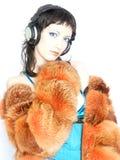 Menina na moda do DJ Fotografia de Stock