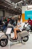 Menina na motocicleta imagens de stock royalty free