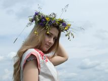 Menina na natureza Foto de Stock Royalty Free