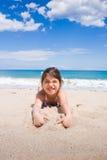 A menina na praia Fotografia de Stock Royalty Free