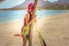 Menina na praia Imagem de Stock