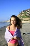 Menina na praia Foto de Stock
