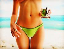 Menina na praia do verão Imagem de Stock Royalty Free