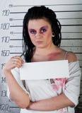 Menina na prisão Fotografia de Stock