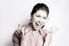 A menina na raiva. Fotografia de Stock Royalty Free