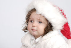 A menina na roupa comemorativo foto de stock