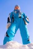 Menina na roupa do inverno dos esportes Imagens de Stock Royalty Free