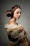 Menina na roupa do lobo Fotos de Stock Royalty Free