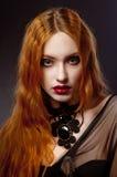 Menina na roupa elegante Fotos de Stock Royalty Free
