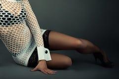 Menina na roupa 'sexy' Fotografia de Stock Royalty Free