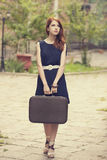 Menina na rua. Fotografia de Stock Royalty Free