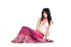 Menina na saia cor-de-rosa imagem de stock royalty free