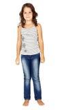 Menina nas calças de brim imagem de stock royalty free