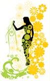 A menina nas cores Ilustração do Vetor