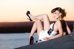 Menina nas sapatas Foto de Stock