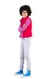 Menina Nerdy que inclina-se na parede Imagem de Stock