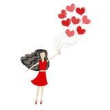 Menina no amor ilustração royalty free