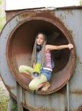 Menina no anel Foto de Stock Royalty Free