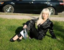 A menina no ar livre Imagem de Stock Royalty Free
