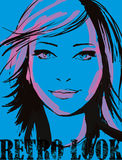 Menina no azul Fotografia de Stock Royalty Free