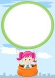 Menina no balão Imagens de Stock