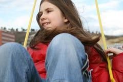 Menina no balanço Foto de Stock