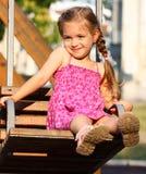 Menina no balanço Imagem de Stock