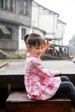 Menina no barco Imagem de Stock Royalty Free