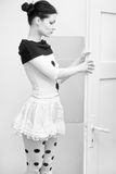 Menina no branco Imagem de Stock
