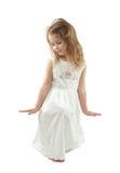 Menina no branco Fotos de Stock Royalty Free