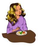 Menina no café da manhã Foto de Stock Royalty Free
