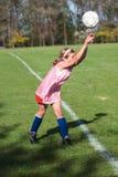 Menina no campo de futebol 45 Imagens de Stock Royalty Free