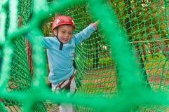 Menina no capacete Fotos de Stock