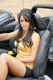 Menina no carro Foto de Stock Royalty Free