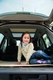Menina no carro Fotos de Stock